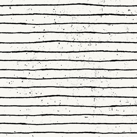 off white: Hand drawn style striped seamless pattern. Vintage abstract repeat pattern in black and off- white.