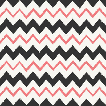 tribales: Mano elaborado estilo chevron sin patr�n. Resumen de antecedentes de mosaico geom�trico en rojo coral negro y en colores pastel.