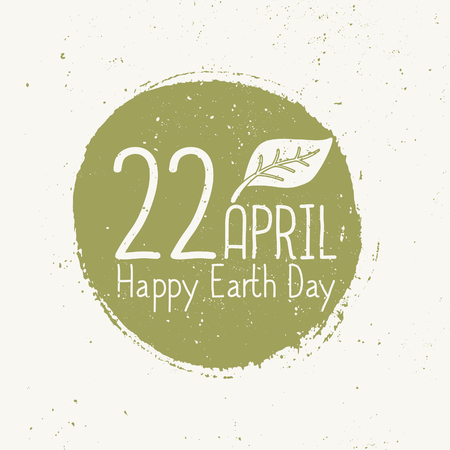 Typographic design card for Earth Day. Vector