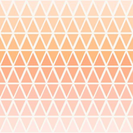 colores pastel: Modelo incons�til abstracto con tri�ngulos en ombre rosa pastel de durazno. Vectores