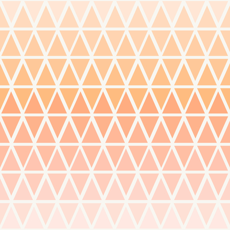 Abstract seamless pattern with triangles in ombre pastel peach pink. Illustration