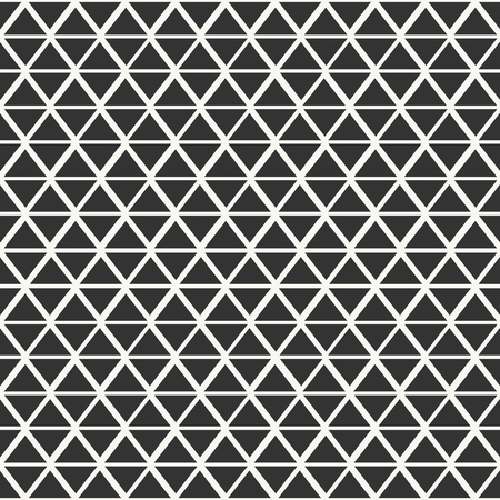 Abstract seamless pattern with triangles in off-white and dark gray. Vector