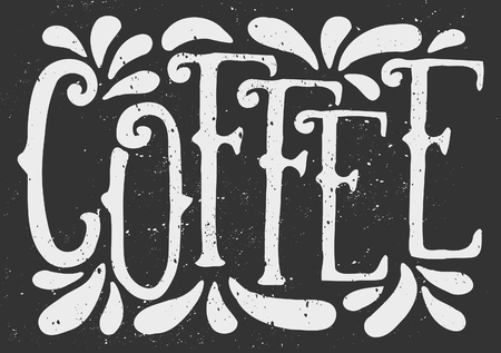 Chalkboard typographic coffee design. Vintage lettering and decorative elements. Vector illustration. Vector