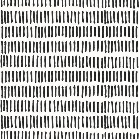 Dibujado a mano abstracta patrón de repetición sin fisuras con líneas en blanco y negro.