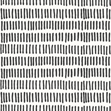 Hand drawn abstract seamless repeat pattern with lines in black and white.