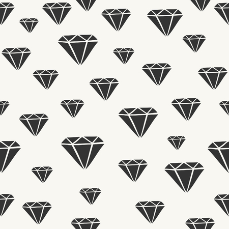 diamonds on black: Seamless pattern with diamonds in black and off-white.