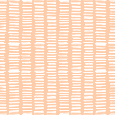 Hand drawn abstract seamless repeat pattern with white lines on pastel pink background. 向量圖像