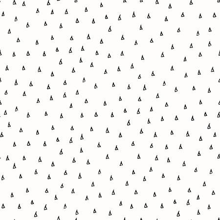 scribbles: Abstract seamless repeat pattern in black and white. Hand drawn triangles texture, ink scribbles tiling background. Illustration