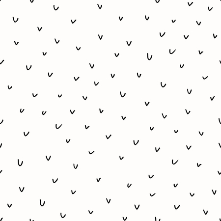 repeat texture: Abstract seamless repeat pattern in black and white. Hand drawn check marks texture, ink scribbles tiling background. Illustration