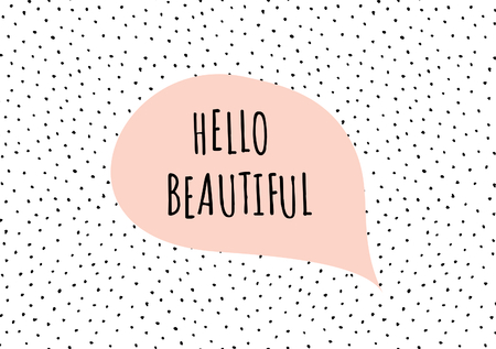 rosa negra: Lindo y moderno plantilla de la tarjeta de felicitación del día de San Valentín. Bocadillo con mensaje romántico, mano puntos dibujados textura de fondo, negro, paleta de colores blanco y rosa pastel.