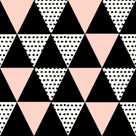 la repetición del patrón abstracto geométrico transparente en rosa negro, blanco y colores pastel. Moderno y elegante Póster de diseño abstracto, cubierta, diseño de la tarjeta.