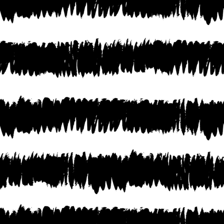 striped texture: Hand drawn striped texture in black and white, seamless repeating brush strokes vector pattern.