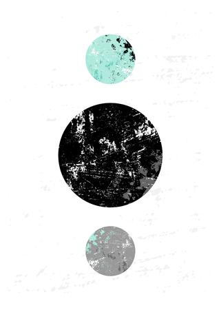 abstract circles: Abstract composition with textured geometric shapes in black, gray and light blue. Minimalist and modern poster, brochure, card design.