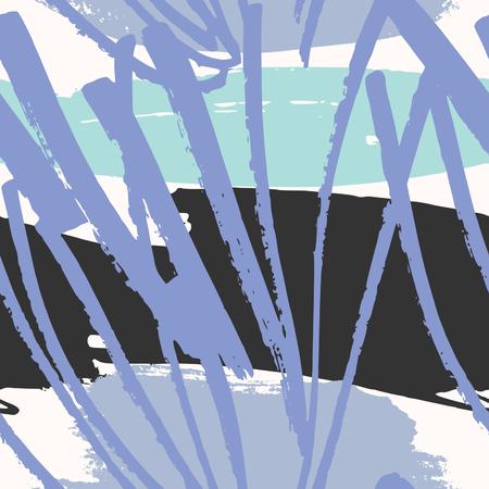 garabatos: Dibujado a mano patr�n abstracto en p�rpura, negro, azul y blanco. textil moderna, tarjeta de felicitaci�n, carteles, dise�os de papel de envolver.