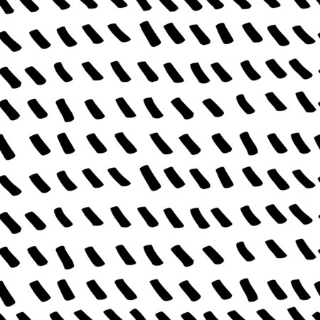 textiles: Abstract seamless repeating pattern in black and white. Hand drawn lines texture, ink scribbles tiling background.