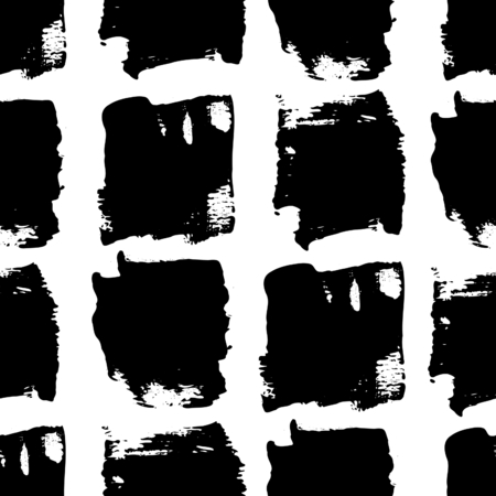 grunge backgrounds: Hand painted brush strokes in black on white background. Seamless abstract repeating background.