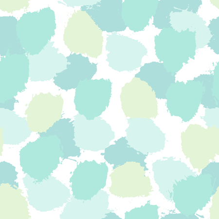 grunge backgrounds: Hand painted brush strokes in light blue, mint green and turquoise. Seamless abstract repeating background.