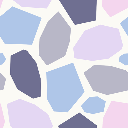 wall paper: Seamless repeat pattern with geometric shapes in pink, lavender, purple and cream. Abstract textile, wrapping paper, wall art design. Illustration