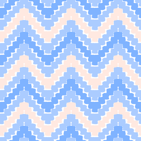 Hand drawn seamless chevron pattern in purple, lavender, pastel pink and white. Modern textile, wall art, wrapping paper, wallpaper design.