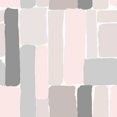 patrón que se repite sin fisuras con los elementos dibujados a mano en colores pastel sobre fondo crema. Ilustración de vector