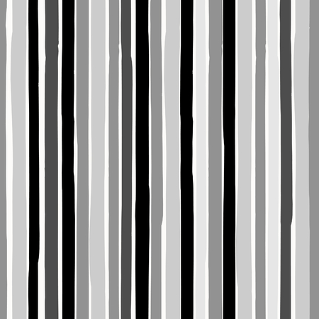gray: Seamless repeating pattern with hand drawn stripes in black and gray on white background. Illustration