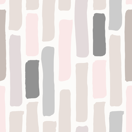 simple: Seamless repeating pattern with hand drawn elements in pastel colors on cream background. Illustration
