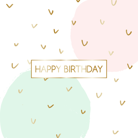 Birthday greeting card design with text happy birthday in gold birthday greeting card design with text m4hsunfo