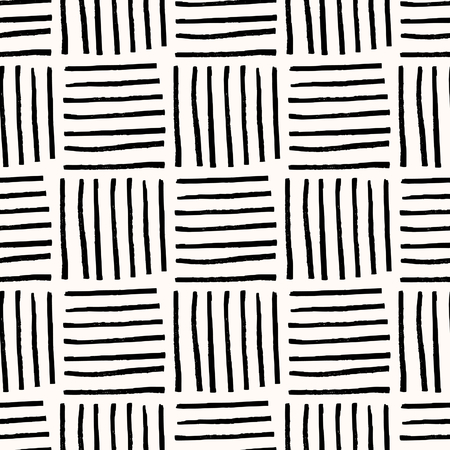 tile: Hand painted thin brush strokes basket weave texture. Seamless abstract monochrome repeating background.