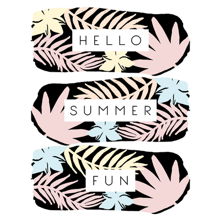 Modern and stylish summer poster, brochure, greeting card design.