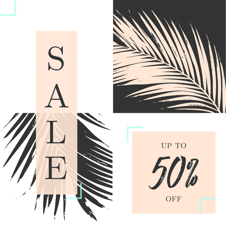 card: Modern and stylish sale poster, sale brochure, discount offer design.