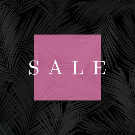 tropical: Modern and stylish sale poster, sale brochure, discount offer design.