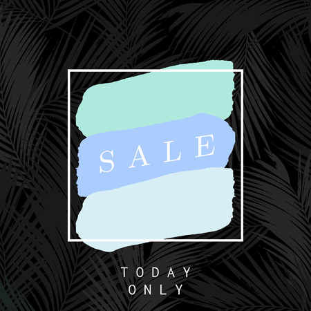 paints: Modern and stylish sale poster, sale brochure, discount offer design.
