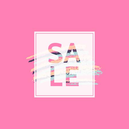 Modern and colorful sale poster, sale brochure, discount offer design. Illustration