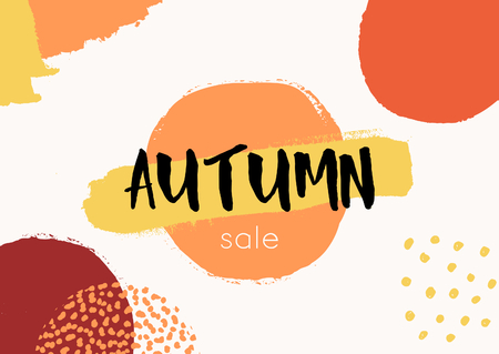 red wallpaper: Abstract autumn design with colorful brush strokes in yellow, red, brown and orange on white background. Modern and creative poster, brochure, greeting card template.