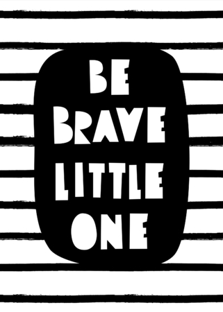 Plantilla de cartel de diseño tipográfico en blanco y negro sobre fondo de rayas. Arte de la pared del cuarto de niños de estilo escandinavo, tamaño A4, decoración de la habitación de los niños imprimibles.