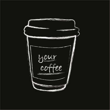 caffeine: caffeine, cup, breakfast, cappuccino, brown, background Illustration
