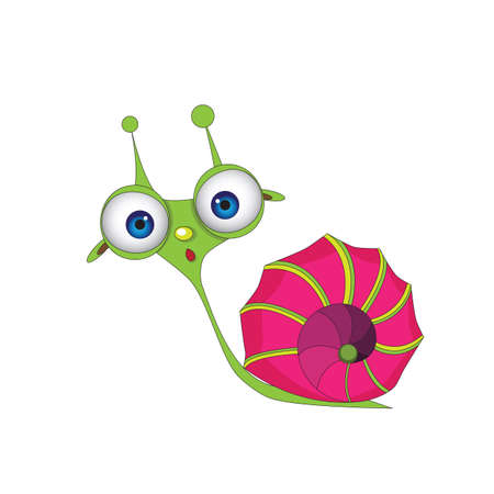 crawling creature: isolated, vector, illustration, house, eyes, fun, clipart