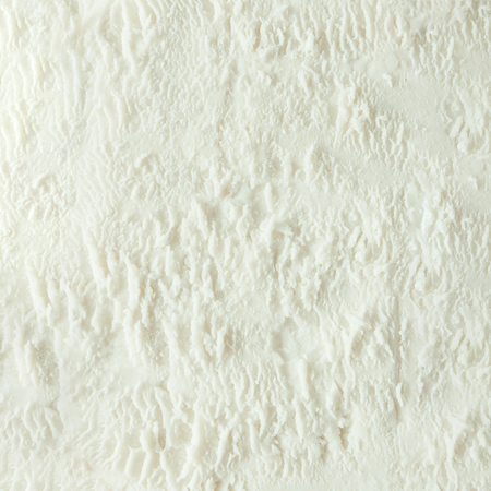 Vanilla ice cream white texture. Summer minimal background. Flat lay