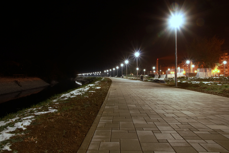 Illuminated promenade photo