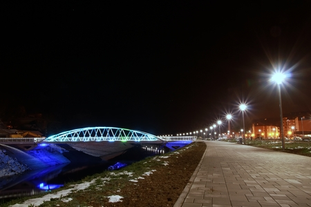 Illuminated bridge photo