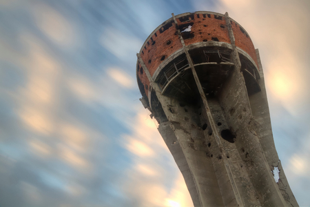 Water tower in Vukovar 版權商用圖片