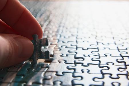 Finishing puzzle photo