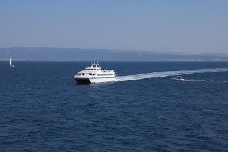 Catamaran in Adriatic sea  Stock Photo