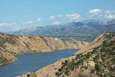 Maslenica bridge in Croatia. photo