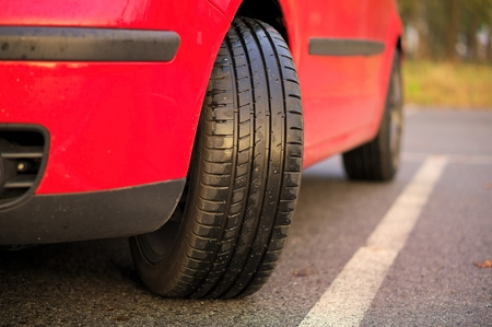 Sport cars tyre. photo