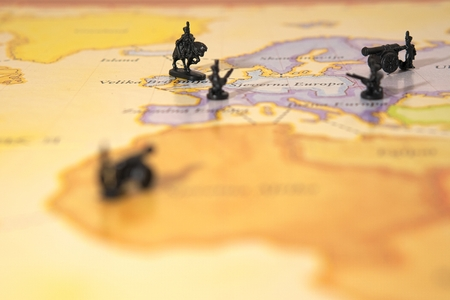 wold map: War on wold map Stock Photo