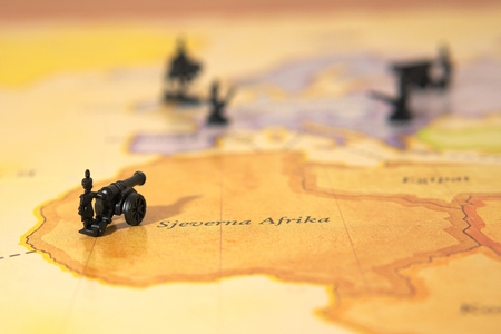 wold: War on wold map Stock Photo