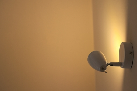 shaddow: LED lamp in home Stock Photo