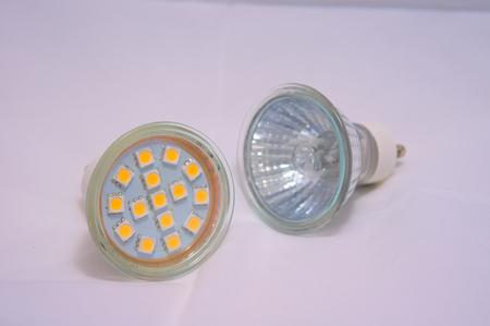 halogen: LED and halogen bulbs