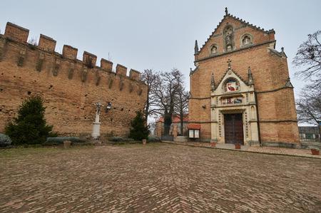 lock block: Church of st.Ivan Kapistran in city Ilok.